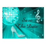 Sparkly Stiletto Heel 15th Birthday Save The Date