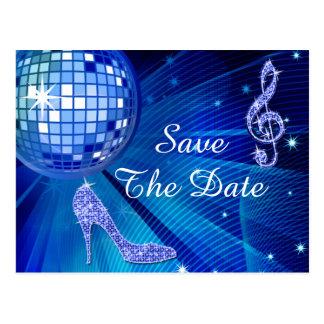 Sparkly Stiletto Heel 30th Birthday Save The Date Postcard