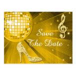 Sparkly Stiletto Heel 50th Birthday Save The Date