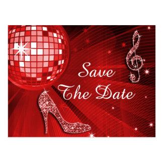 Sparkly Stiletto Heel 50th Birthday Save The Date Postcard