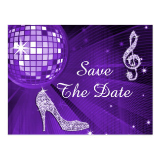 Sparkly Stiletto Heel 50th Birthday Save The Date Postcard