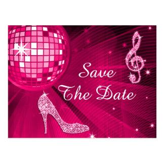 Sparkly Stiletto Heel 60th Birthday Save The Date Postcard