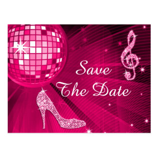 Sparkly Stiletto Heel 70th Birthday Save The Date Postcard