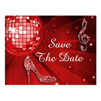 Sparkly Stiletto Heel 90th Birthday Save The Date Postcard
