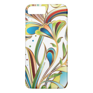 Sparkly Trendy Abstract Floral iPhone 7 Plus Case