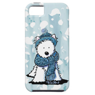 Sparkly Winter Westie iPhone 5 Cases