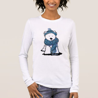 Sparkly Winter Westie Long Sleeve T-Shirt