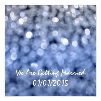 Sparks - Blue Wedding Invitation