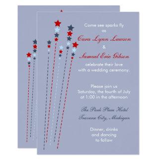 Sparks Fly Fourth of July Wedding Invitation