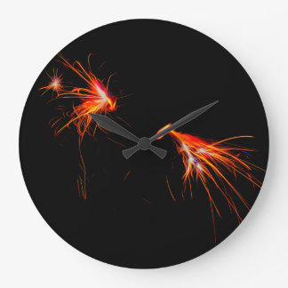 Sparks Flying Clock
