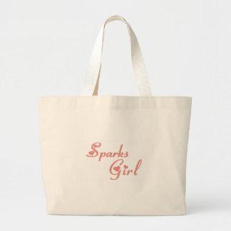 Sparks Girl tee shirts Jumbo Tote Bag