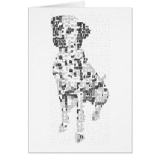 Sparky Dalmatian Dog Mosaic Card