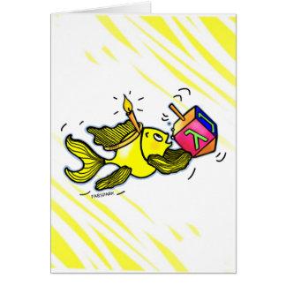 Sparky Hanuka Fish - Comic Cure Drawing Gift Greeting Card