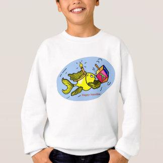 Sparky Happy Hanuka Fish - funny cute sweatshirt