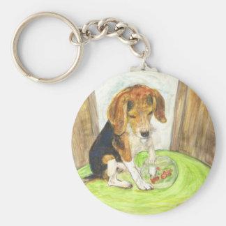 Sparky in the fishbowl key ring