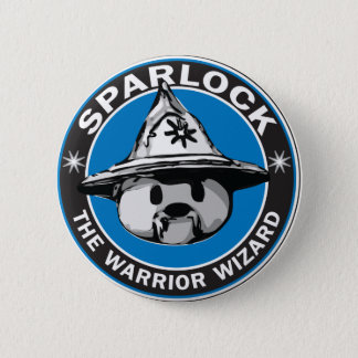 Sparlock the Warrior Wizard 6 Cm Round Badge