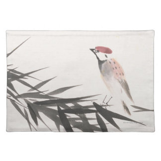 Sparrow and Bamboo Leaves Placemat