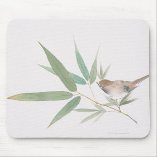 Sparrow and Bamboo Mouse Mat