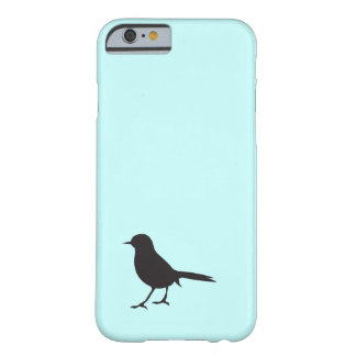 Sparrow bird black & white silhouette blue barely there iPhone 6 case