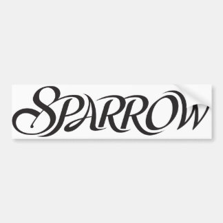 Sparrow Bumper Sticker