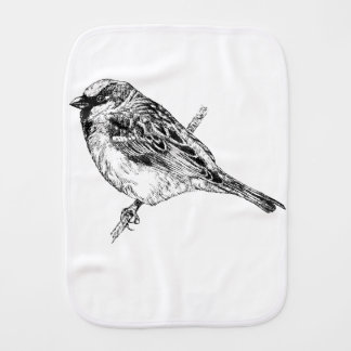 Sparrow Burp Cloth