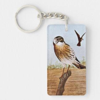 Sparrow Hawks Double-Sided Rectangular Acrylic Key Ring