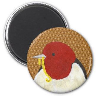 Sparrow 6 Cm Round Magnet