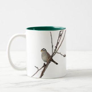 Sparrow on a branch Mug