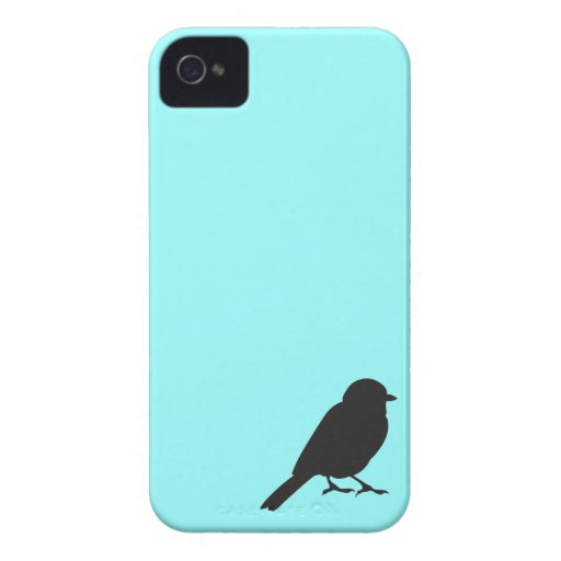 Sparrow silhouette chic blue swallow bird iPhone 4 Case-Mate cases