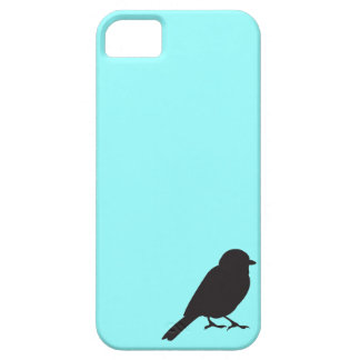 Sparrow silhouette chic blue swallow bird iPhone 5 covers