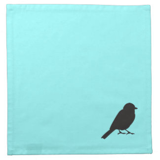 Sparrow silhouette chic blue swallow bird printed napkins