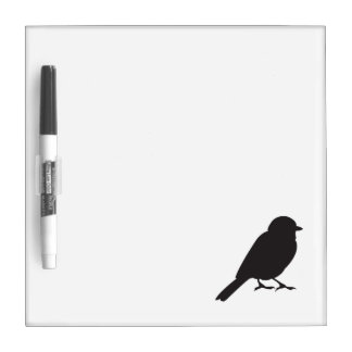 Sparrow silhouette chic cute girly swallow bird Dry-Erase whiteboards