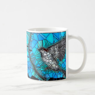 Sparrow Stained Glass Style Mug
