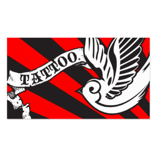 sparrow tattoo business cards
