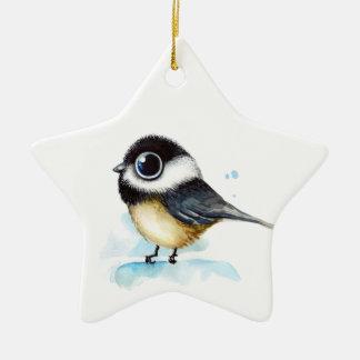 Sparrow watercolor christmas ornament