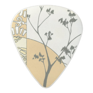 Sparse Tree Silhouette by Megan Meagher Acetal Guitar Pick