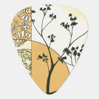 Sparse Tree Silhouette by Megan Meagher Guitar Pick