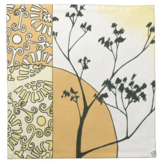 Sparse Tree Silhouette by Megan Meagher Napkin