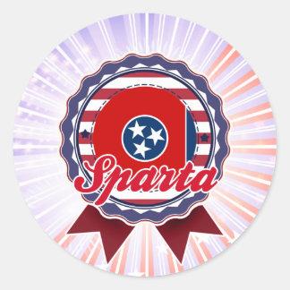Sparta TN Round Stickers