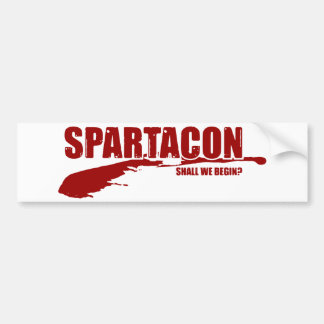 SpartaCon bumper sticker