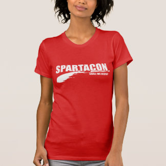 "Spartacon ""Shall We Begin?"" Women's Tshirt (red)"