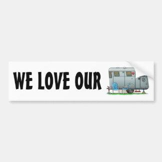 Spartan Camper Trailer RV Bumper Sticker