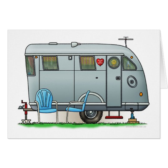 Spartan Camper Trailer RV Card