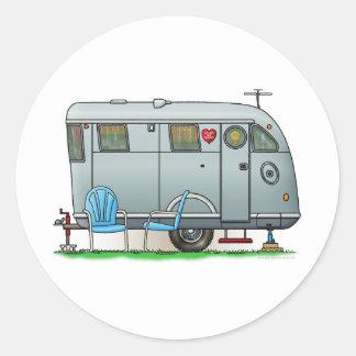 Spartan Camper Trailer RV Round Sticker
