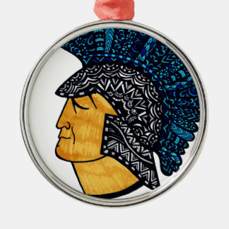 Spartan Head - Blue Christmas Ornament