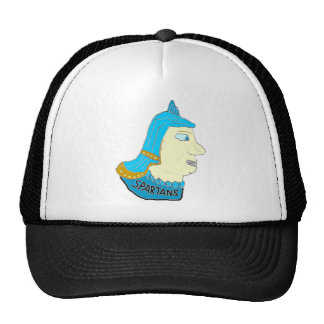 Spartan Head Logo Aqua/Brown/Yellow Mesh Hat