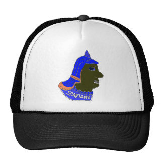 Spartan Head Logo Blue/Orange/Brown Hats