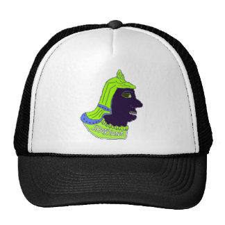Spartan Head Logo Green/Blue/Black Hats