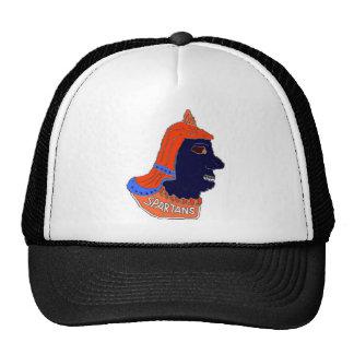 Spartan Head Logo Orange/Blue/Black Mesh Hats