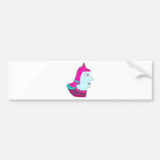 Spartan Head Logo Pink and Light Blue Bumper Stickers